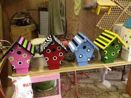 captivating colorful nuance of birdhouse design ideas creating