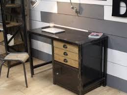 bureau industriel bois et metal bureau métal dactyles meuble de style industriel bois et