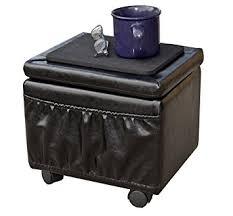 amazon com paris furniture wheeled storage ottoman kitchen u0026 dining