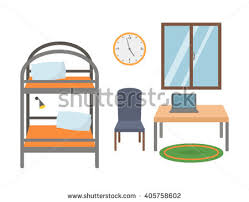 Cartoon Bunk Bed by Youth Room Flat Style Bunk Bed Stock Vector 405758602 Shutterstock