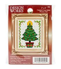 christmas tree ornament counted cross stitch kit 2