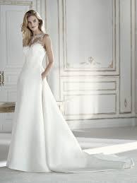 wedding dress illusion neckline palaos ballgown wedding dress with illusion neckline and beading