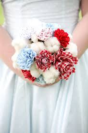 wedding flowers july unique wedding bouquet handles great for a 4th of july wedding