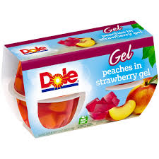 dole fruit bowls dole fruit bowls in strawberry gel 4 3 oz cup 4 pk