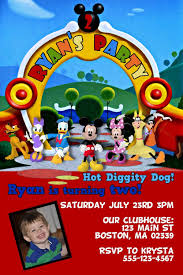 100 mickey mouse clubhouse invitation template free download