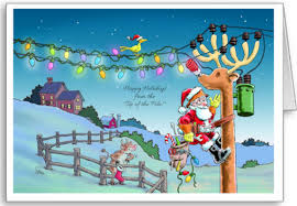 tnt rudy transformed christmas cards for electrician lineman