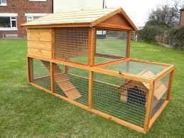 2 up 3 down wooden rabbit hutch