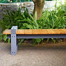 enjoy the view from this diy garden bench clean lines and a low