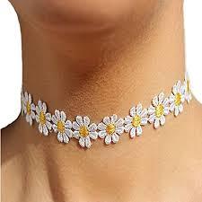 charm necklace choker images Susenstone women daisy flower choker chain charm necklace bohemia jpg