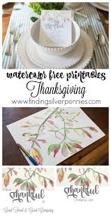 printables thanksgiving thanksgiving free printables in watercolor finding silver pennies