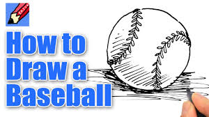 how to draw a baseball real easy youtube