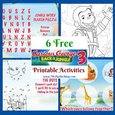 free curious george 3 printable activities curiousgeorge