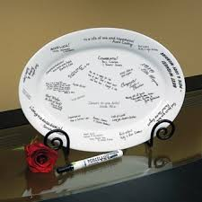 wedding guest book plate wedding signature platters wedding accessories