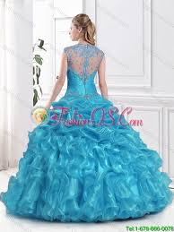 sweet fifteen dresses wonderful 2016 beading and ruffles aqua blue sweet fifteen dresses