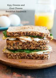 eggs greens and goat cheese sandwich nutritious eats