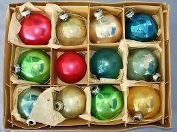 vintage christmas tree glass ornament lot shiny bright germany