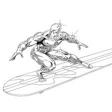 printable coloring pages silver surfer superheroes