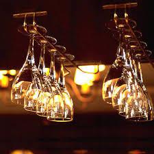 hanging wine glass rack drinking glasses storage steel holder