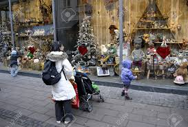 Decoration Christmas Store by Copenhagen Denmark Small Chidlren Looking At Christmas