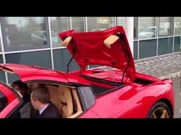 458 spider roof f430 spider start up roof leave singapore
