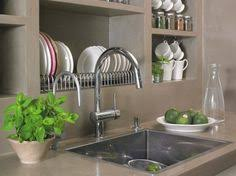 astuce cuisine deco safety bar dish drying rack drainer dryer suspended shelf kitchen