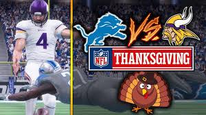 nfl on thanksgiving 11 23 2017 detroit lions vs minnesota vikings