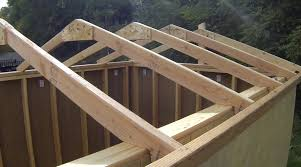 How To Build A Wood Floor With Pole Barn Construction by How To Build A Shed Building U0026 Installing Roof Rafters Youtube