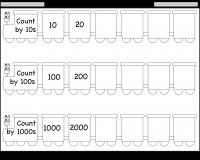 skip counting by 10 100 and 1000 u2013 worksheet free printable