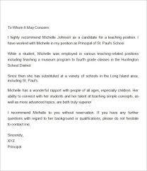 reference letter for a student teacher docoments ojazlinkteacher