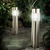 Solar Powered Bollard Lights - amazon co uk bollard pathway lighting outdoor lighting lighting
