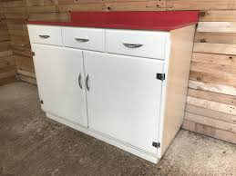 kitchen cabinet with red melamine top 1950s for sale at pamono