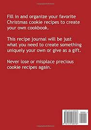 christmas cookies recipe keeper blank recipe book journal for