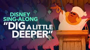 dig deeper sing princess frog lyric