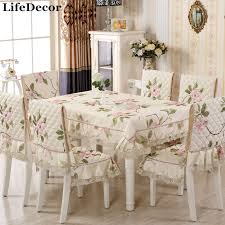 silence cloth table pad elegant blue pastoral dining table cloth pillow cushion tables and