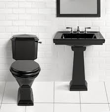 Matching Pedestal Sink And Toilet Canterbury Warrington Deco Pedestal Basin And Toilet In Black