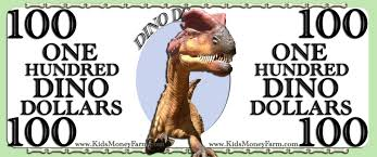 dino dollars money templates for the dinosaur lover free