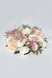 flower candle rings shop large christmas decortative candle ring w roses peonies