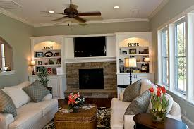 ceiling fan crown molding cultured stone family room traditional with crown molding ceiling fan