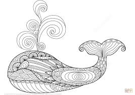 free printable zentangle coloring pages whale zentangle coloring page free printable pages adorable