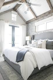 Transitional Bedroom Furniture by Gray Herringbone Tile Accent Wall Transitional Bedroom Master