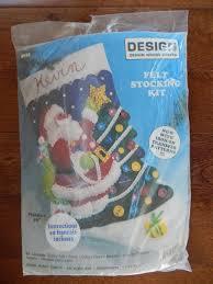 christmas felt stocking kit santa decorating tree iron on