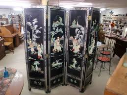 Oriental Room Dividers by Vintage Oriental Black Lacquer Room Divider Dressing Screen 4