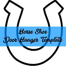 southernadoornments horse shoe door hanger template