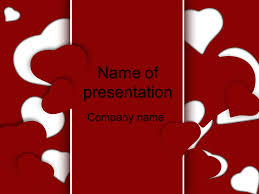 powerpoint templates free download heart red hearts powerpoint template for impressive presentation free