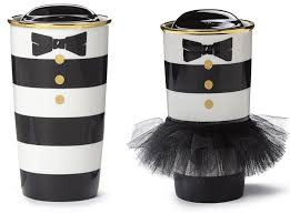 white lexus with bow starbucks and alice olivia dress up a tumbler and a bear