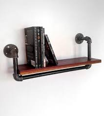 Black Pipe Shelving by Black Walnut And Steel Wall Shelf I Like The Industrial Homemade