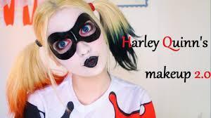 spirit halloween harley quinn harley quinn u0027s makeup 2 0 youtube