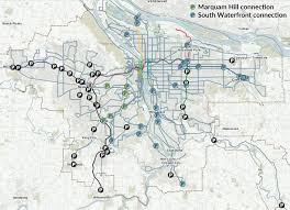 Portland Public Transportation Map park and rides transportation u0026 parking ohsu