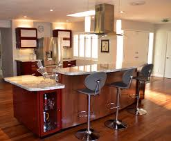modern kitchen items modern stools with grey backs also wooden flooring also red brown