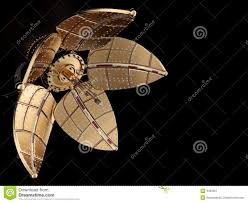 mechanical flower steampunk style stock image image 9463361
